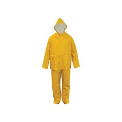 Regenanzug, PVC/Rayon, gelb