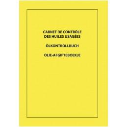 Ölkontrollbuch dreisprachige (F-D-NL)