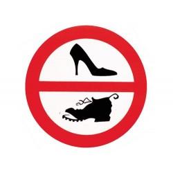 Schuhe Verboten